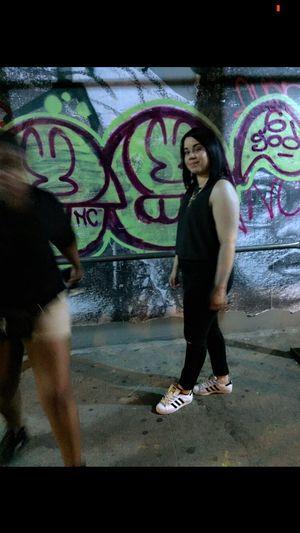 Graffiti Art Hello Eyem Flick  Pic Manhattan NYC Newyorkcity My City Ineedatan Photo Quick Pic Funnight Beautifulweather Lowereastside May 2016 Feelingnice Selfie ✌ Me Picture Citygirl Adidassupertar Adiddas