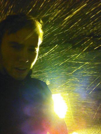 Night Lights Snow Selfie Iceland