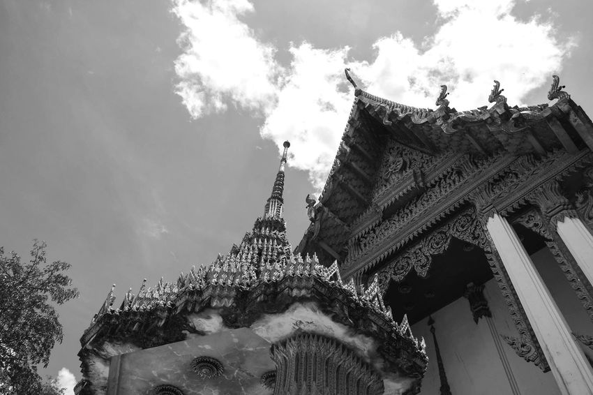 Temple - Building Travel Religion Outdoors View Landscape ASIA Amazing Landmark Light Black And White Buddhism Buddhist