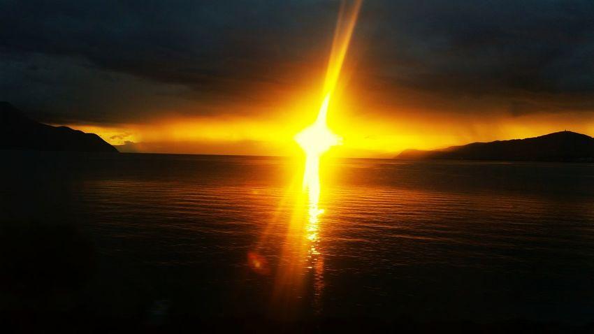 Sunset Lac Léman Montreux