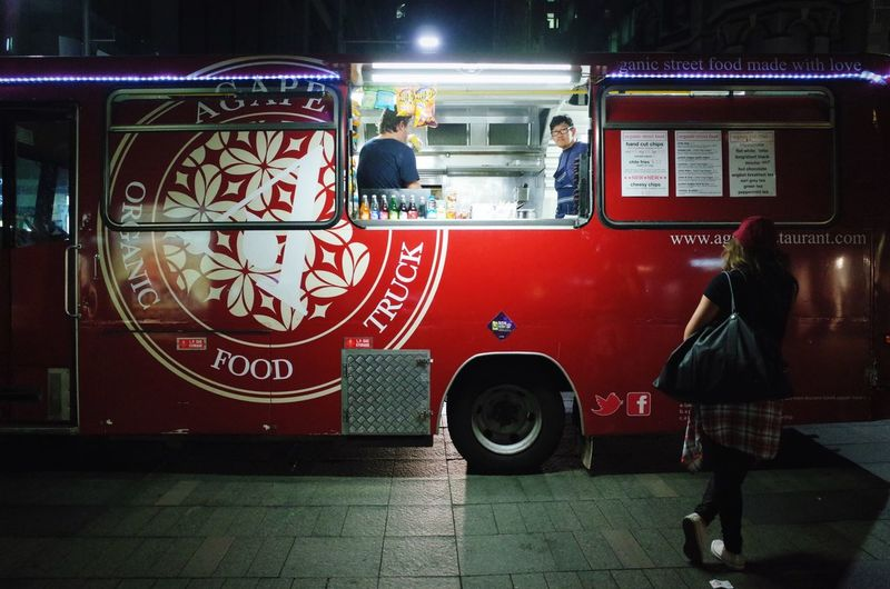 Late night food truck decisions, Pitt St Mall, Sydney. Sydney Streetphotography Ricoh Gr Open Edit