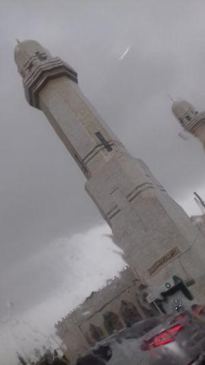 مباني اسلامية عمر بن الخطاب Mosque Masjid Islam There Is No God But Allah And Muhammad Is The Messenger Of Allah God Is Great. Jordan Amman Sky