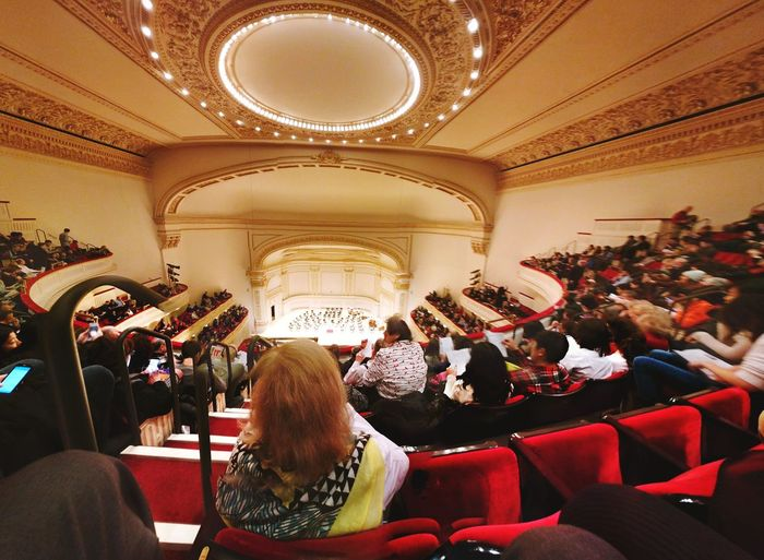Auditorium Large Group Of People Arts Culture And Entertainment Performance Audience Crowd Indoors  Seat