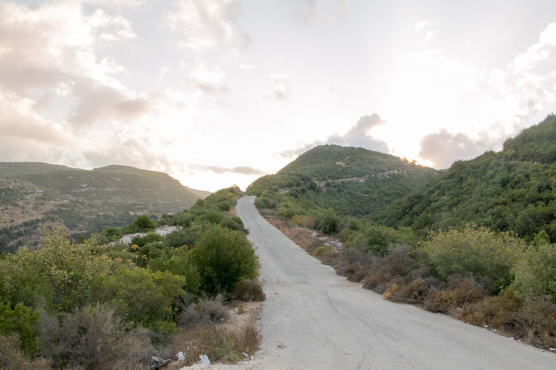 Mountain Sunrise EyeEmNewHere Lost In The Landscape Beauty In Nature Day Landscape Mountain Mountain Road Nature No People Outdoors Road Sky Tree Sunrise Sunrise_Collection Syria