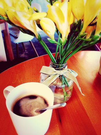 Liquid Lunch Coffee Table Coffee And Sweets Yellow Flower
