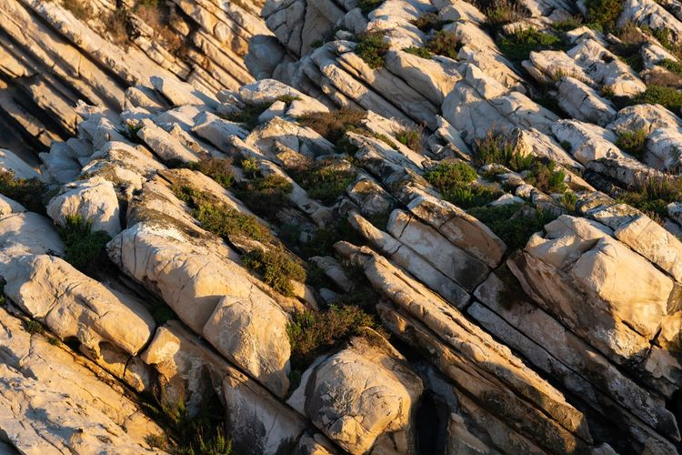 Rock formation on land