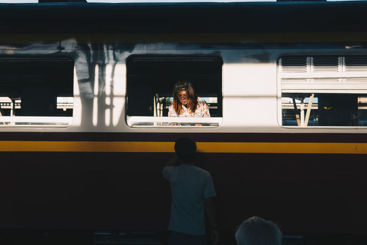 Lifestyles Men Mode Of Transportation Public Transportation Rail Transportation Railroad Station Railroad Station Platform Streetphotography Train Transportation Travel Window Women The Street Photographer - 2018 EyeEm Awards