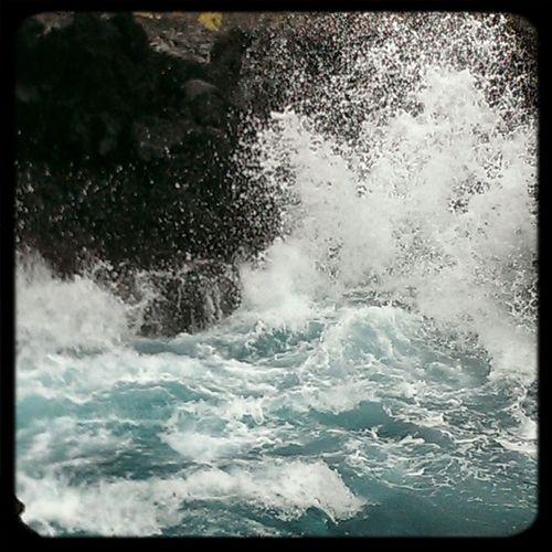 Yesterdays photo Roughwaters Hightides Konahawaii Bigisland