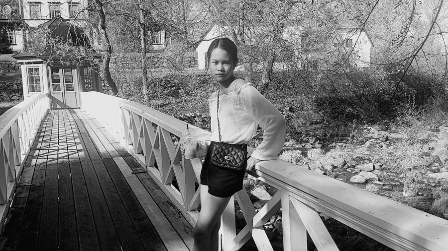 Black And White MyDaughters Sweden Girl Posing