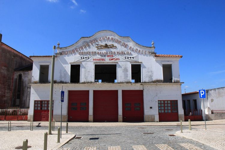 abandoned fire station Fire Station Architecture Building Exterior Built Structure Sky Building Nature Blue Clear Sky No People Day Low Angle View Sunlight