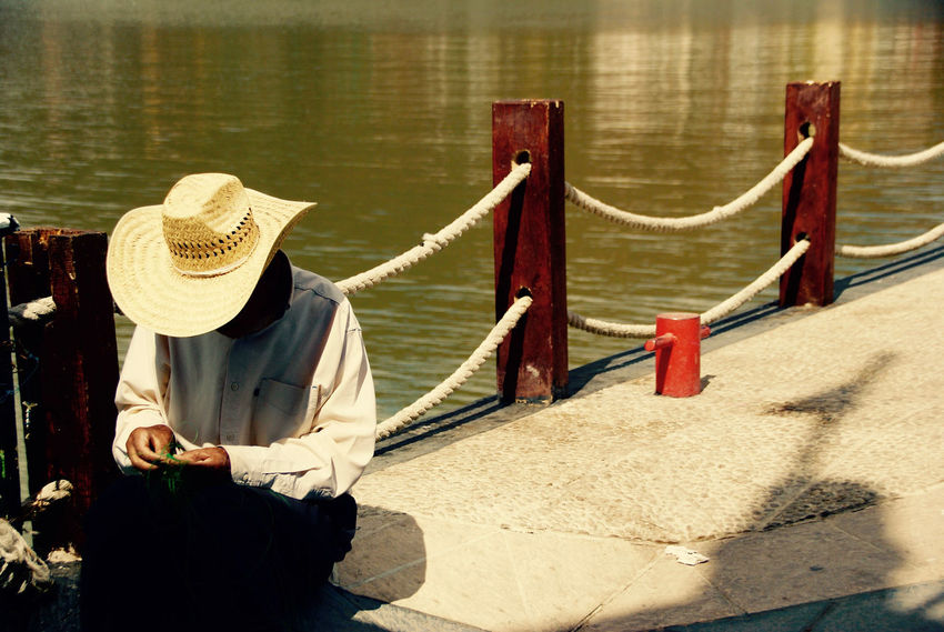 Day Fisherman Hat Nature One Person Outdoors Real People Sun Hat