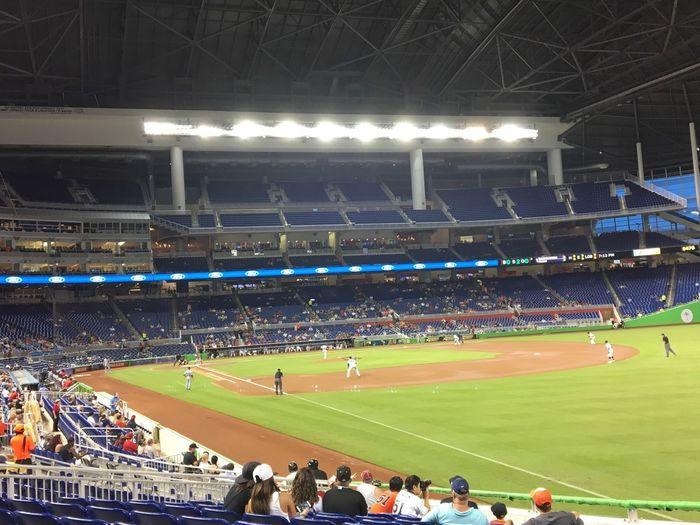 Stadium Sport Crowd Sports Team Miami Marlins Stadium Miami Marlins