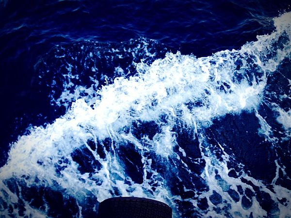 Wave Sea Ship Blue White Nice Holidaymemories Nature