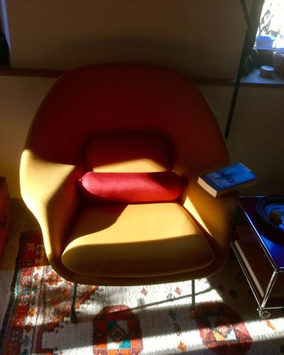 Indoors  Chair No People Technology Day Close-up Interior Design Saarinen Light And Shadow Lights Design Colors Colorful my favorite spot in the morning