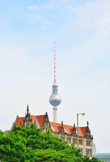 Fernsehturm against sky