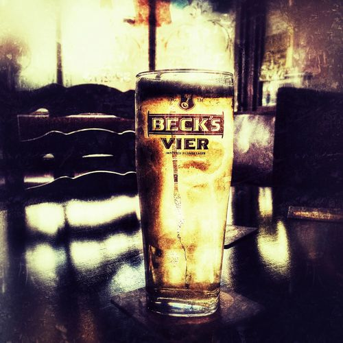 Lager beer Beer Glass Golden Colour Lager Light Shade Becks Vier Cool Cold Beer
