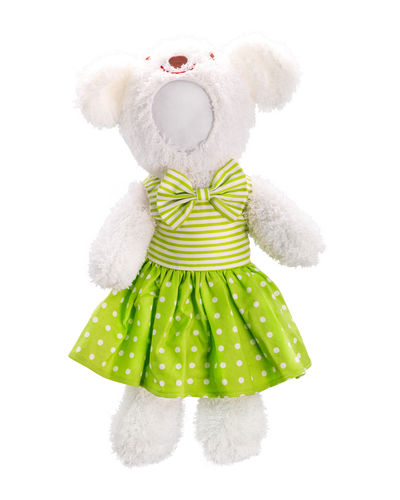 Teddy bear doll Doll Teddy Teddy Bears Close-up Creativity Cut Out Dolls Green Color Human Representation Indoors  No People Representation Single Object Snow Softness Still Life Studio Shot Stuffed Toy Tedddy Bear Teddy Bear Teddy Bear 🐻 Teddybear Toy White Background Winter