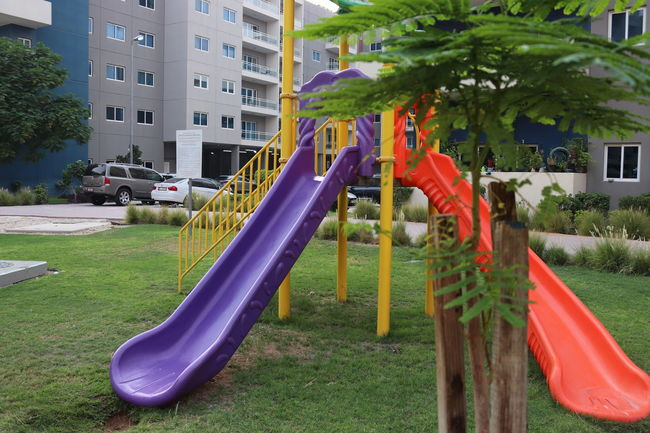 Natural, garden with different kind of flowers Grass Green Nature Plants Playground Fun With The Kids Tree Day Flowers Green Background Light Street Lamp Nature Outdoors Play Ground Pruple  Pruple Flower Red Flowers Rock Background Slide - Play Equipment White Flowers