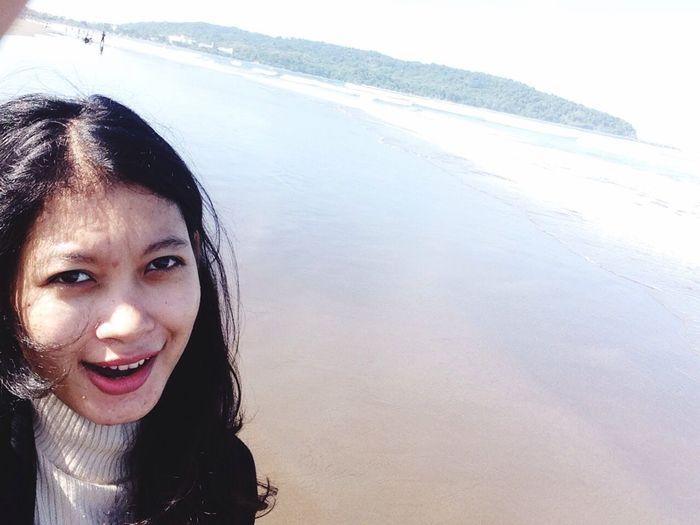 Hi! Enjoying Life Hello World That's Me Beach Indonesian Selfie ✌ Pangandaran Beach 🙋