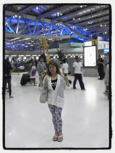 In Bangkok Airport. .