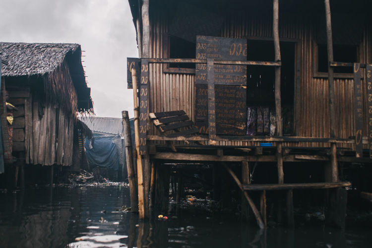 Slum Street Water Architecture Building Exterior Built Structure Building Wood - Material House No People Stilt House Reflection Old Social Issues Canal Pier Sky Nature Day Outdoors City Residential District