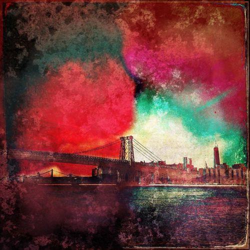 Williamsburg Bridge , View from Brooklyn WeAreJuxt.com IPhone Artistry Digital Painting AMPt_community