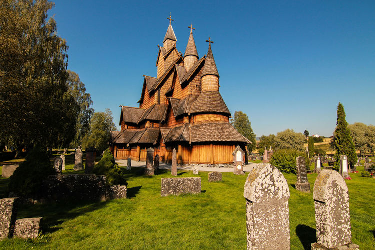 Architecture Building Exterior Built Structure Church Day Grass Heddal No People Norway Outdoors Place Of Worship Sky Spirituality Travel Destinations