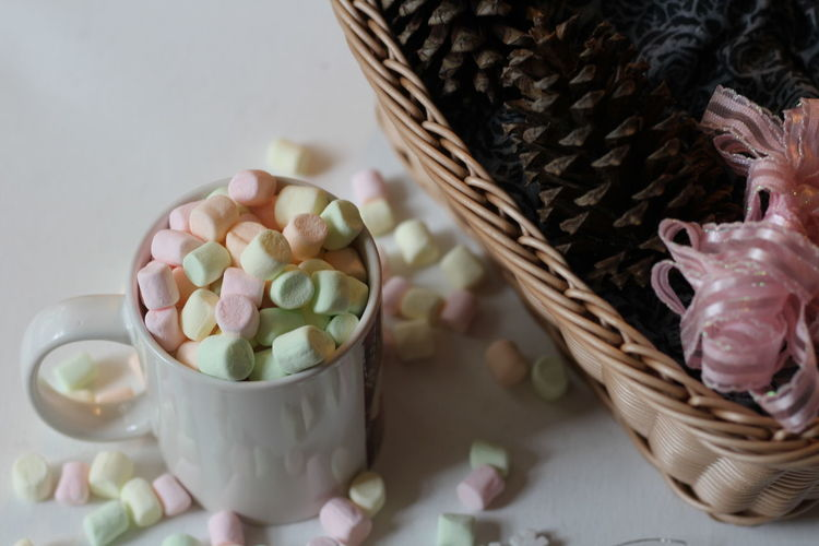 marshmallows coffee winter wintertime Coffee Coffee Time Marshmallows Winter Wintertime Close-up Coffee Cup Day Food Food And Drink Freshness Indoors  White White Background White Color Wintertime ⛄