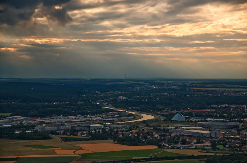 view of fürth with the europa canal Europa Canal Fürth Aerial View Beauty In Nature Building Exterior Built Structure City Cityscape Cloud - Sky Environment High Angle View Landscape Nature No People Outdoors Overcast Residential District Sky Sunset TOWNSCAPE #urbanana: The Urban Playground