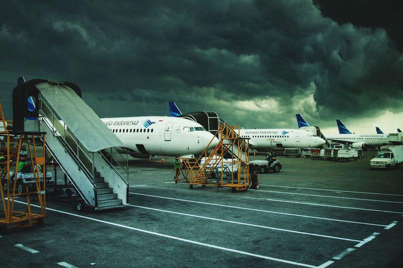Plane Planes Garuda Garuda Indonesia Photography In Motion Airport Travel Holiday Clouds Transportation