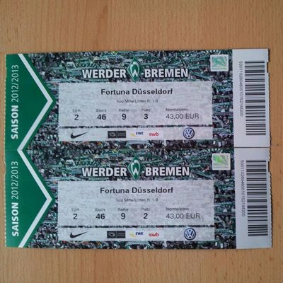 Today, Werder vs. F95 at the Weser -Stadion. :) BREF95
