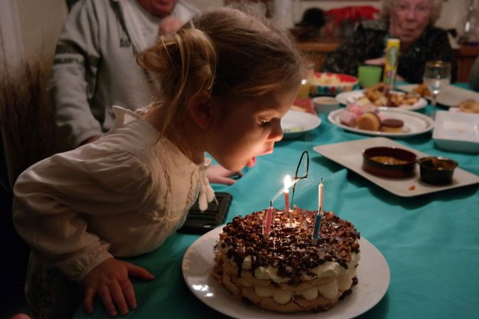 Birthday Party Birthday Child Sweet Food Indoors  Table Birthday Cake Celebration Headshot Children Only Birthday Candles Blowing Candles Party Childhood Another Year Older Food Dessert Candles Light Light Joyful Moments Happıness Time To Celebrate People