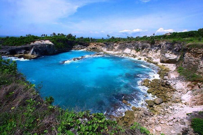 blue lagoon , nusa ceningan (indonesia) Traveling Landscape_Collection Enjoying Life Landscape
