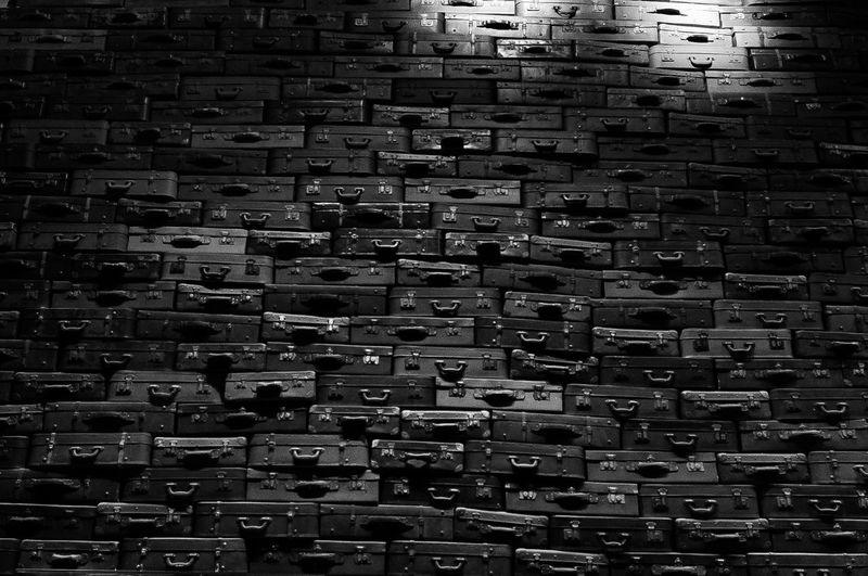 Full frame shot of brick wall at night