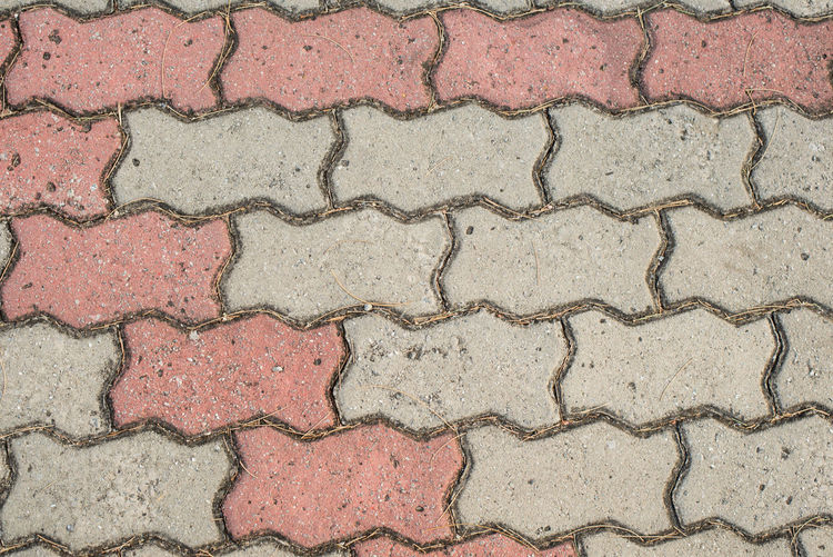 Bricks pattern for background. Full Frame Pattern Backgrounds Textured  No People Day Footpath High Angle View Paving Stone Outdoors Brick Wall Stone Repetition Built Structure Wall - Building Feature Close-up Rough Sidewalk Directly Above Concrete