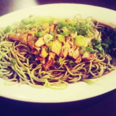 Check This Out green mee with chicken breast.