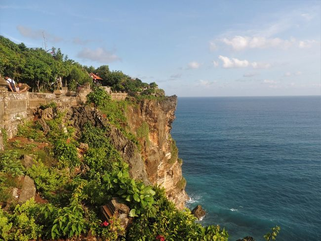 """Pura Luhur Uluwatu, Uluwatu's hindu temple, is one of the most interesting sights of the area. The place hosts cheeky monkeys and presentations of Kecak, the balinese """"fire dance"""". June 2016. Bali Bali, Indonesia Hindu Hinduism INDONESIA Nature Nikon Ocean View Travel Photography View Balinese Beauty In Nature Cliff Culture Explore Gabiandbali Gabiandindonesia Horizon Over Water Indonesia Photography  Inspiring Southeastasia Traditional Travel Destinations"""
