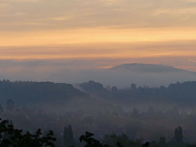 Beauty In Nature Dawn Fog_collection Foggy Foggy Landscape Foggy Morning Foggymorning Idyllic Mist Misty Dawn Misty Sunrise Mountain Range Orange Color Scenics Tranquil Scene Tranquility