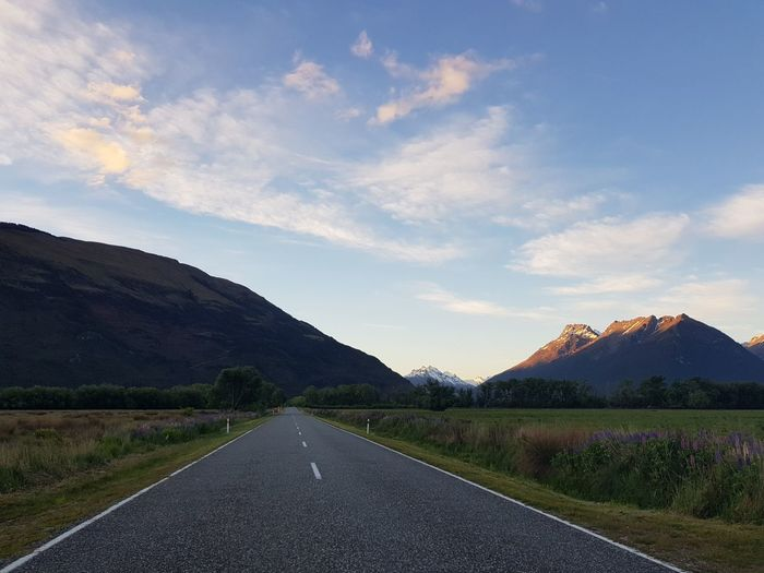 EyeEmNewHere Glenorchy, NZ Spring Sunset Mountain Rural Scene Road Winding Road Road Trip Sky Landscape Cloud - Sky Mountain Range