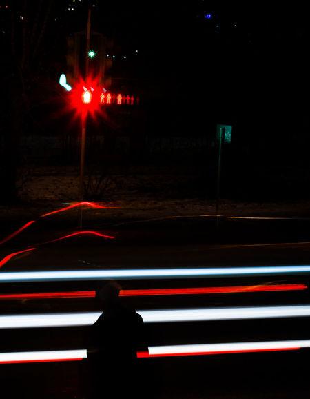 Trafficlightсветофор Дорога Night Road Light свет Ночь