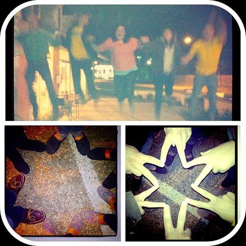 Stars and jumping equal fun night. Funnight Star Springbreak2013