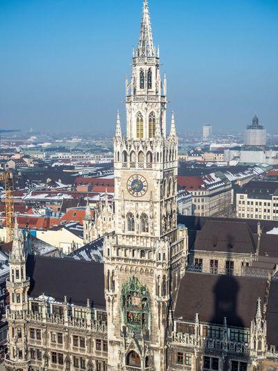 Munich Architecture Built Structure City Travel Tower Travel Destinations Deutschland Clock Tower Allemagne München Munich Winter