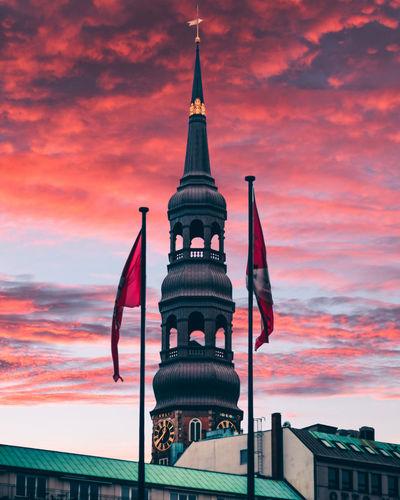 Church tower in