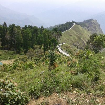 A path made at top of the mountain Sikkim awesome creation..