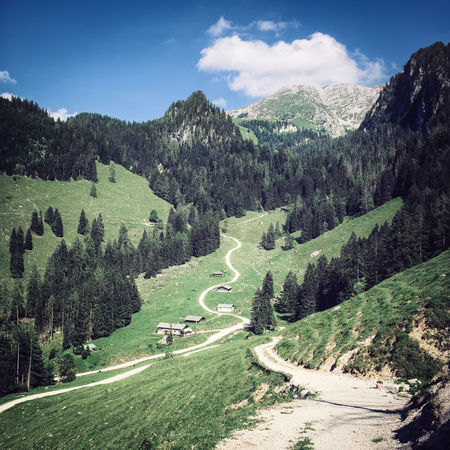 Wanderbares Deutschland Beauty In Nature Cloud - Sky Curve Day Grass Green Color Growth High Angle View Landscape Mountain Mountain Range Mountain Road Nature No People Non-urban Scene Outdoors Road Scenics Sky The Way Forward Tranquil Scene Tranquility Transportation Tree Winding Road