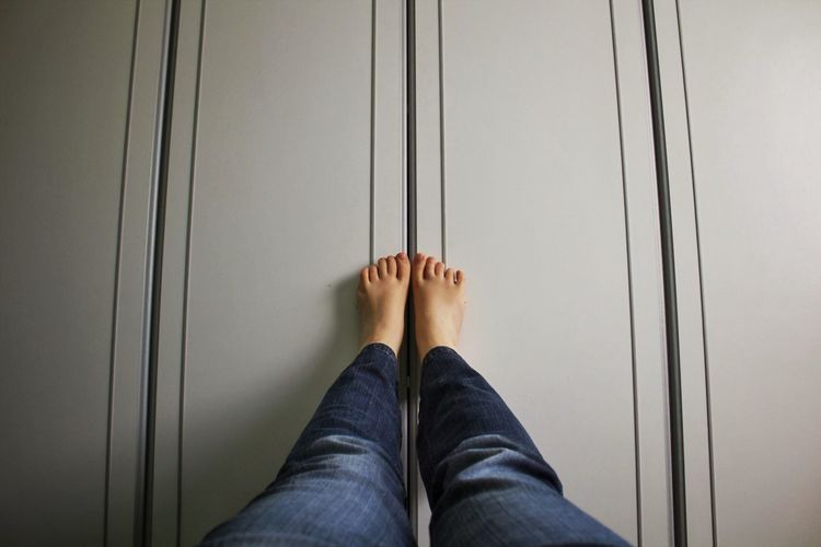 Feet Lines White Distance Blue Legs Foot Selfie