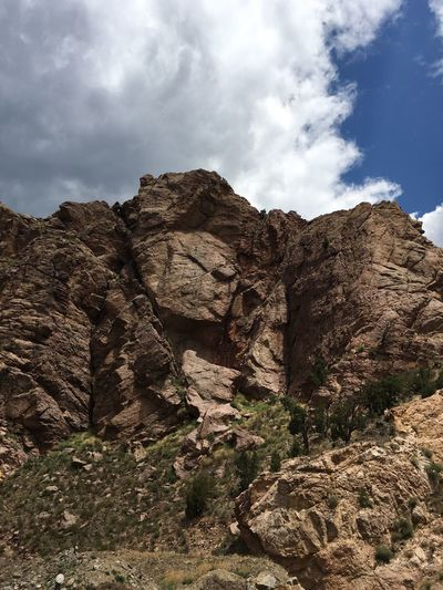 No People Rock Formation Colorado Mountains Faces In The Rocks Rocks Many Faces  Blue Sky Clouds