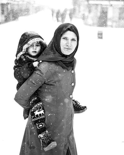 Two People Women Portrait Love People Winter Day Looking At Camera Konyagram Konya Turkey Woman Portrait Mother And Child Popular