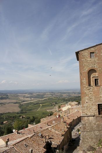 Aerial View Ancient Architecture Birds Birds Flying High Building Exterior Built Structure City Cityscape Day Flying History Medieval Montepulciano Montepulciano Toscana Italy Montepuliciano No People Outdoors Sky