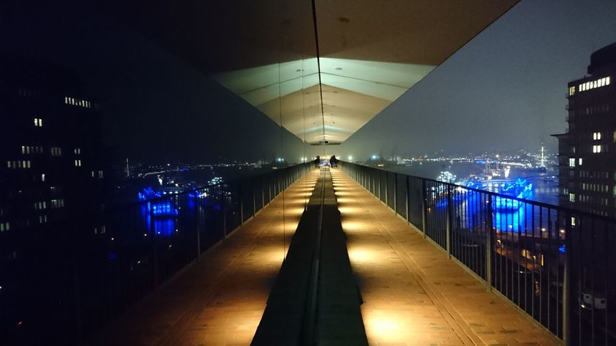 Hamburg Elbphilharmonie Elbe River City Night Travel Destinations Architecture Mirror Reflection Light